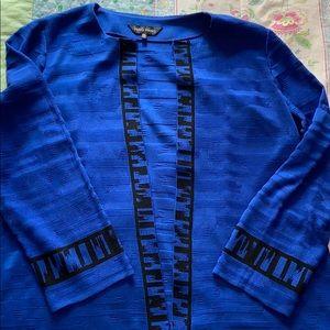 Ming Wang Blue cardigan size OX